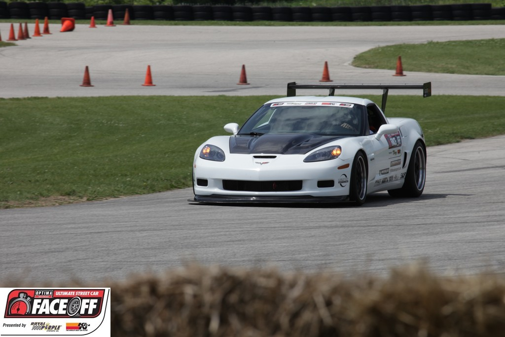 Todd Rumpke's 2006 Z06 wins the BFGoodrich Hot Lap Challenge at the 2013 OPTIMA Faceoff