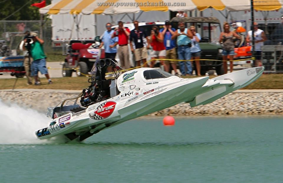 The OPTIMA® sponsored Problem Child Top Fuel Hydroplane