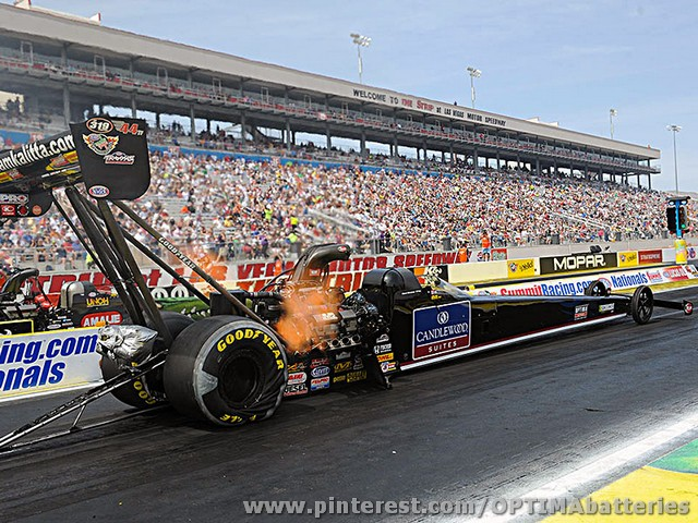 OPTIMA® sponsored NHRA top fuel driver, David Grubnic, heads to Atlanta