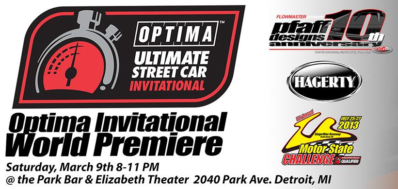 See the World Premiere of the OPTIMA® Ultimate Street Car Invitational