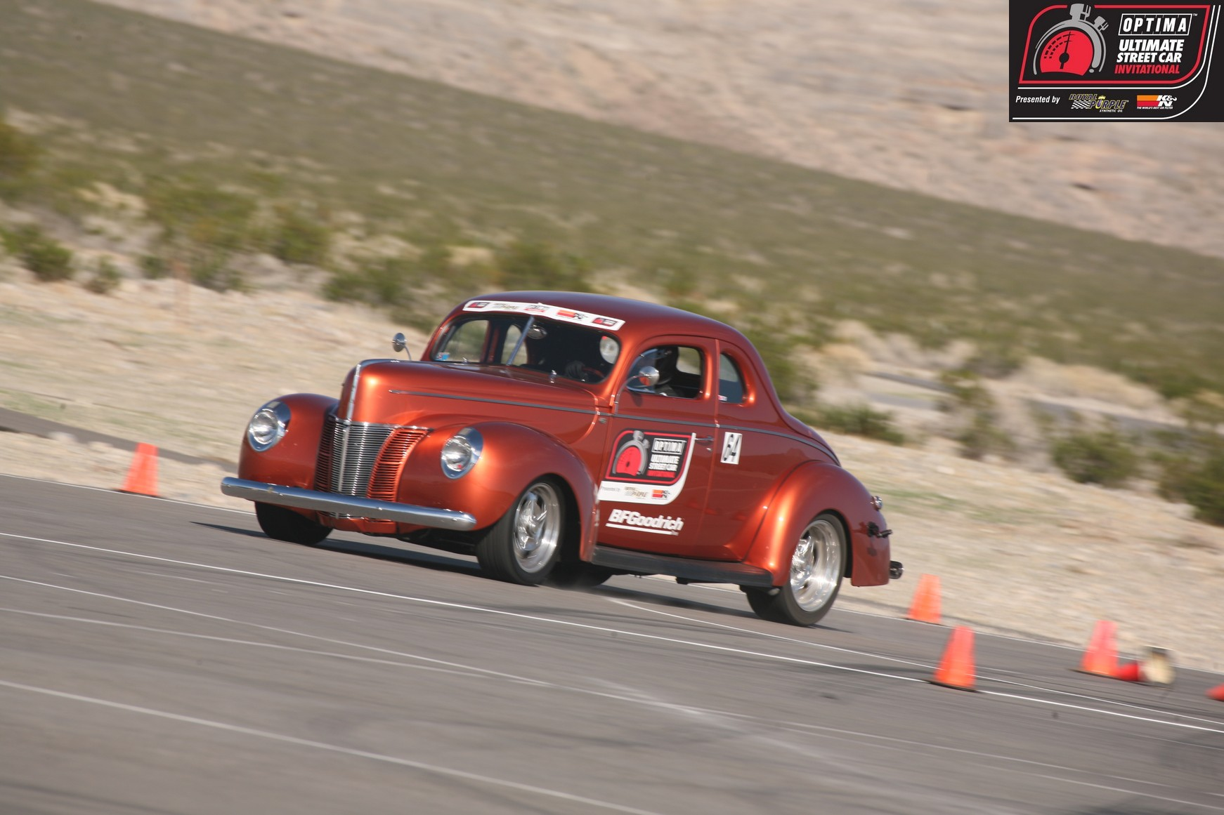 OUSCI Competitor Nick Licata and the Hollywood Hot Rods '40 Ford