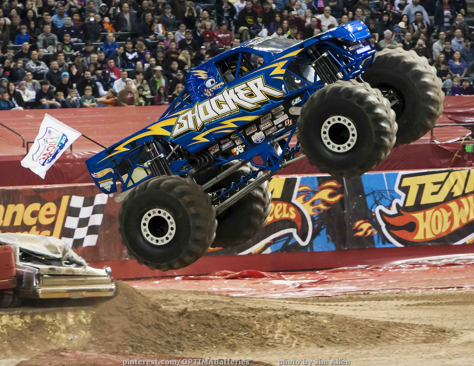 The Optima Sponsored Shocker Monster Truck