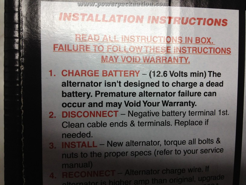 Fact: Alternators are not designed to charge dead batteries