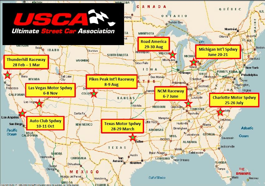 2015 Schedule for OPTIMA's Search for the Ultimate Street Car