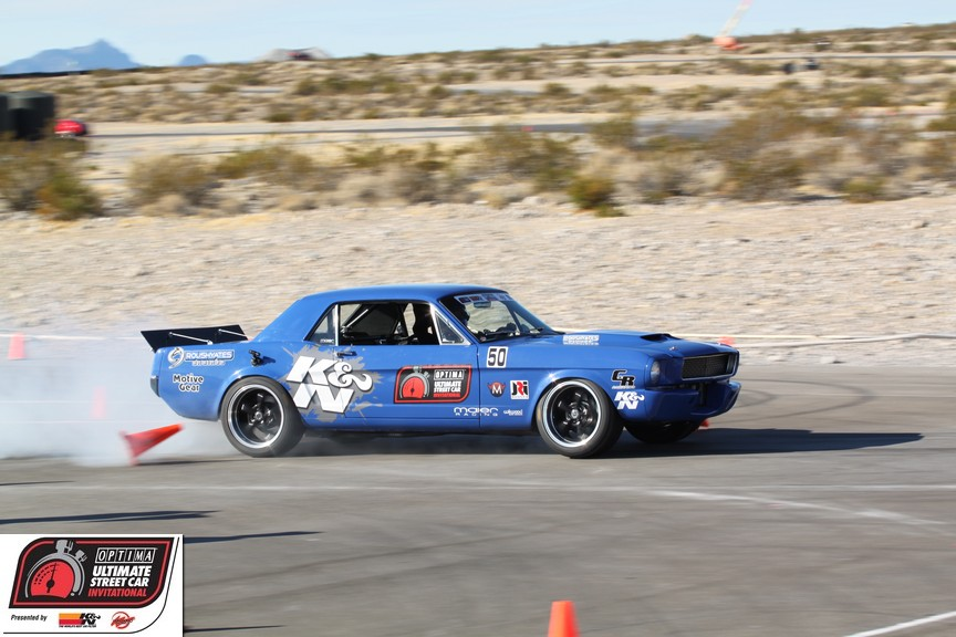 Mike Maier's '66 Mustang on the Ridetech Autocross at the 2011 OUSCI