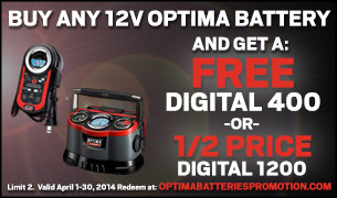 OPTIMA® Batteries Announces 2014 April Promotion
